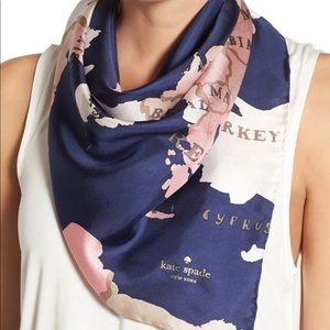 Kate spade going places silk scarf